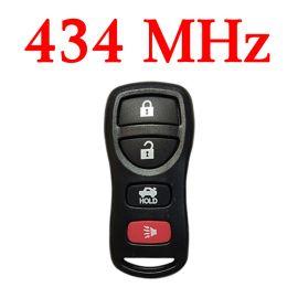 434 MHz 3+1 Buttons Keyless Entry Remote for Nissan / Infiniti 2002-2015 - KBRASTU16