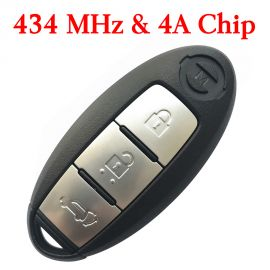 3 Buttons 434 Mhz Smart Proximity Key for Nissan X-Trail - 4A Chip