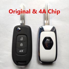 Original 3 Buttons 434 MHz Flip Remote Key for Renault Megane 4 Captur Kadjar Symbol