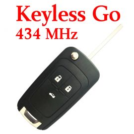 (434 MHz) Keyless Go 3 Buttons Smart Remote keyless go for Chevrolet Cruze
