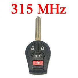 315 MHz 3+1 Buttons Remote Head Key for Nissan 2003-2017 - CWTWB1U751