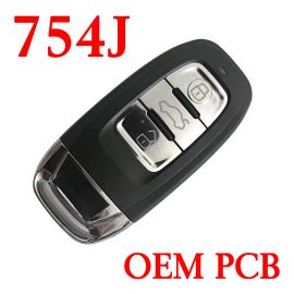 3 Buttons 434 MHz Smart Proximity Key for Audi Q5 A4L - 754J with OEM PCB