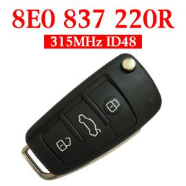 315 MHz Flip Remote Key for Audi A4 - 8E0 837 220R