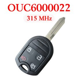 (315MHz) OUC6000022 4 Buttons Remote Head Key for Ford / Lincoln / Mercury 2000-2017 - ( with 4D63 80 bit chip)