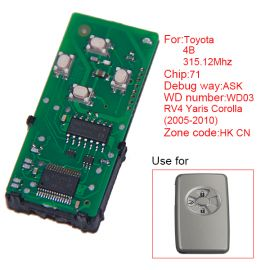 for Toyota Smart Card Board 4 Button 315.12MHz Number 271451-0111-HK-CN