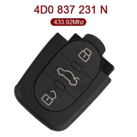 3 Buttons 434 MHz Remote Control for VW Audi - 4D0 837 231N