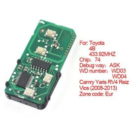 for Toyota Smart Card Board 4 Button 433.92MHz Number 271451-3370-Euro