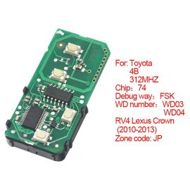 for Toyota Smart Card Board 4 Key 312MHz Number 271451-5290-JP
