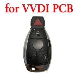 4 Button Key Shell for Mercedes Benz using VVDI PCB - 5 pcs