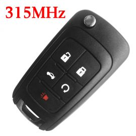 (315MHz) 4+1 Buttons  Flip Remote Key for Chevrolet ID46