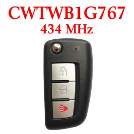 (434 MHz) CWTWB1G767 / (4A Chip) 2+1 Buttons  Flip Remote Key for Nissan Rogue 2014-2018