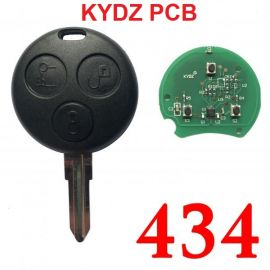 3 Buttons 434 MHz Remote Key for Mercedes Smart