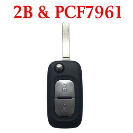 2 Buttons 434 MHz Flip Remote Key for Renault Clio 3 Master Kangoo Twingo - PCF7961A