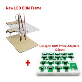 new LED BDM Frame  + 22pcs Dimsport BDM Probe Adapters