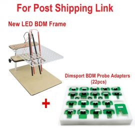 new LED BDM Frame  + 22pcs Dimsport BDM Probe Adapters for Post Shipping