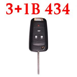 (434MHz) 3+1 Buttons  Flip Remote Key for Chevrolet ID46 Chip