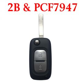 2 Buttons 434 MHz Flip Remote Key for Renault - PCF7947
