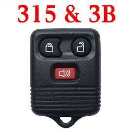 3 Buttons 315 MHz Remote Control Key for Ford