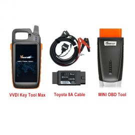 VVDI Key Tool Max + MINI OBD Tool + Toyota 8A All Keys Lost Adapter