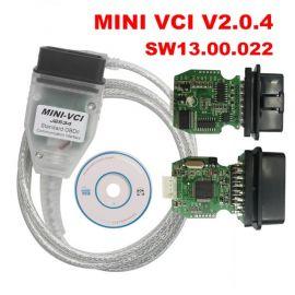 Firmware V2.0.4 MINI VCI SW V13.00.022 For Toyota TIS Techstream FTDI FT232RL Multi-Language MINI-VCI
