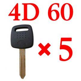 Transponder key for Nissan with 4D60 chip 5pcs