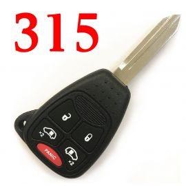 (315MHz) M3N5WY72XX 4+1 Button  Remote Key for Dodge Chrysler