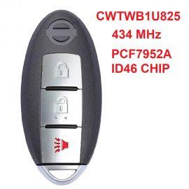 (433Mhz) CWTWB1U825  2+1 Buttons Smart Proximity Key for Nissan Armada Cube 2009-2017