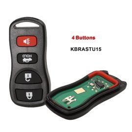 (315MHz) KBRASTU15 3+1 Buttons Keyless Entry Remote for Nissan / Infiniti 2002-2015