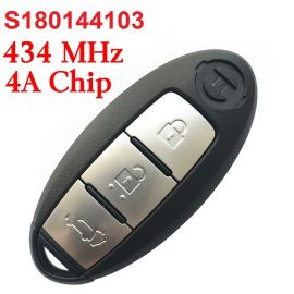 (434Mhz) S180144103 S180144101 3 Buttons Smart Proximity Key for Nissan X-Trail - 4A Chip