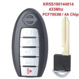 (433Mhz) KR5S180144014 - 5 ButtonSmart Key For Infiniti QX60