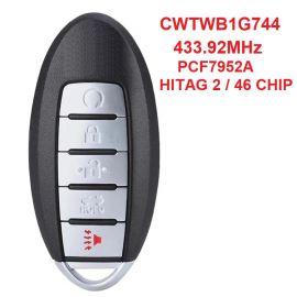 (433Mhz) CWTWB1G744 4+1 Button Smart Key For Nissan Patrol Armada