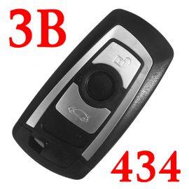 3 Button 434 MHz Smart Proximity Key for BMW 5 / 6 / 7 / X3 Series CAS4 CAS4+ FEM