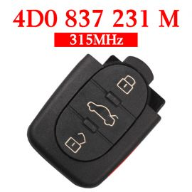 3+1 Buttons 315 MHz Remote Key for Audi -  4D0 837 231M  for Europe South America
