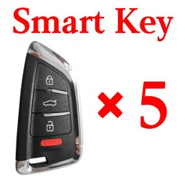 KEYDIY ZB02-4 Smart key BMW Knife style Universal Remote control - 5 pcs