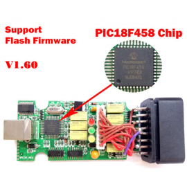 OP-COM 2012 Firmware V1.59 with chips PIC18F458 Support Flash Firmware