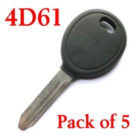 Chrysler Dodge Y165 Transponder Key ( with 4D61 Chip ) - 05086276AA ( Bundle of 5 )