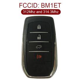 for Toyota fortuner 3+1 Button Smart Card (Tokai Riki) 312MHz and 314.3MHz BM1ET