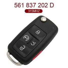 4+1 Buttons 315 MHz US Version Smart Key for VW - Proximity Keyless Go