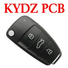 High Quality 3 Buttons 434 MHz KYDZ Flip Remote Key for Audi A1 A3 Q3 - 8V0 837 220 - with MQB48 Chip