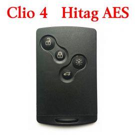 Renault Clio4 Captur 2016 Proximity Smart Card Key 4 Buttons 433MHz AES Transponder