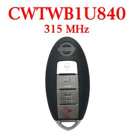 (315MHz) CWTWB1U840 3+1 Buttons Smart Proximity Key for Nissan Leaf 2013-2017