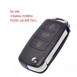 3 Buttons 315 MHz Flip Remote Key for VW - 1J0 959 753L