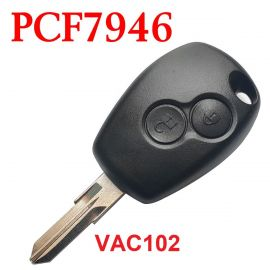 2 Buttons 434 MHz Remote Control Key for Renault Clio Modus Master Twingo - PCF7946