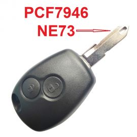 2 Buttons Remote Key for Renault Traffic Master Vivaro Movano Kango 433MHz with PCF7946 chip