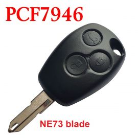 Remote Control Key for Renault 3 Button 433MHz with PCF7946 Electronic Chip