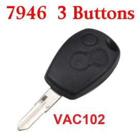 Remote Control Key for Renault 3 Button 433MHz with PCF7946 ID46 Electronic Chip
