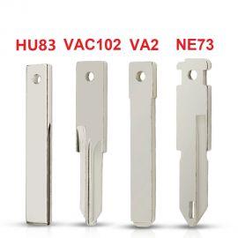 For Renault Nissan Peugeot Citroen Remote Fob Key Blank VAC102 VA2 HU83 NE73 Uncut Key Blade 5pcs/lot
