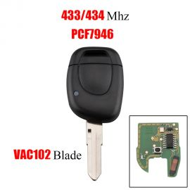 1 Button 434 MHz Remote Key For Renault - ID46 PCF7946 (VAC102)