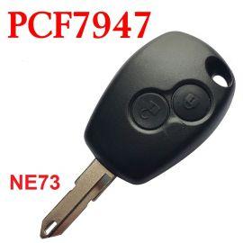 2 Button Aftermarket Remote 433MHz PCF7947 Transponder for Renault