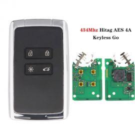 4 Buttons 433MHz Hitag AES 4A After-Market Smart Car Key Card for Renault Megane 4 Talisman Kadjar Espace 5